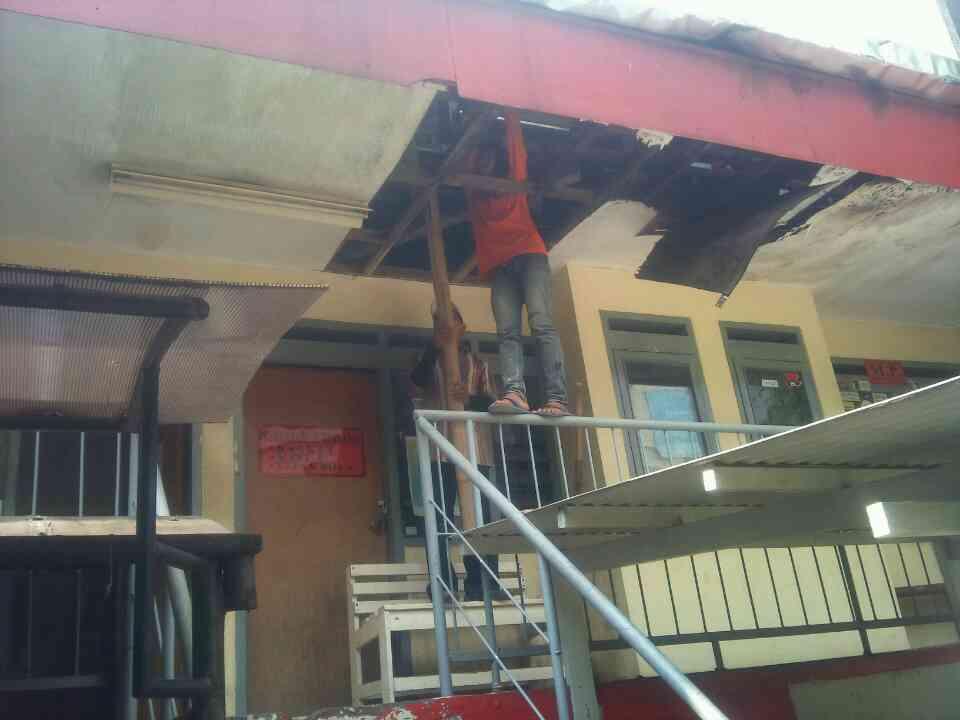 Renovasi gedung UKM. MP/ Kristiana Devina