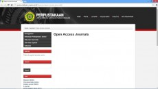 Fitur Open Acces Journals di website perpustakaan Unpar