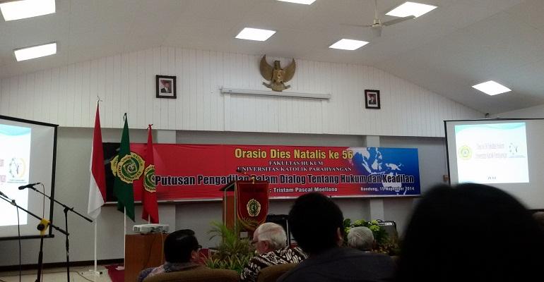 Dies Natalis ke-56 Fakultas Hukum (FH) Unpar. MP/ Veronica Dwi Lestari