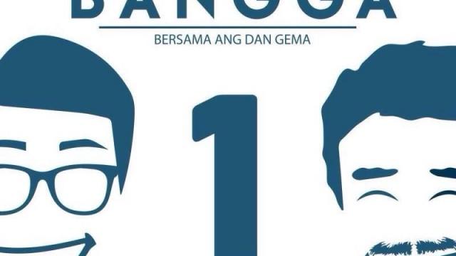 Pasangan calon presiden dan calon wakil presiden mahasiswa nomor urut 1,Ang dan Gema. dok. Bangga