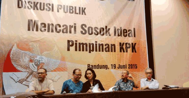 """Diskusi publik """"Mencari Sosok Ideal Pimpinan KPK"""" di Hotel Luxton, Bandung, Jumat (19/6). Sumber: bewara.co"""