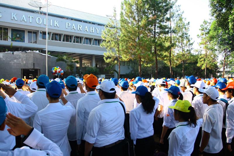 Mahasiswa Baru Angkatan 2015/206 sedang menjalani INAP. dok/ PM UNPAR
