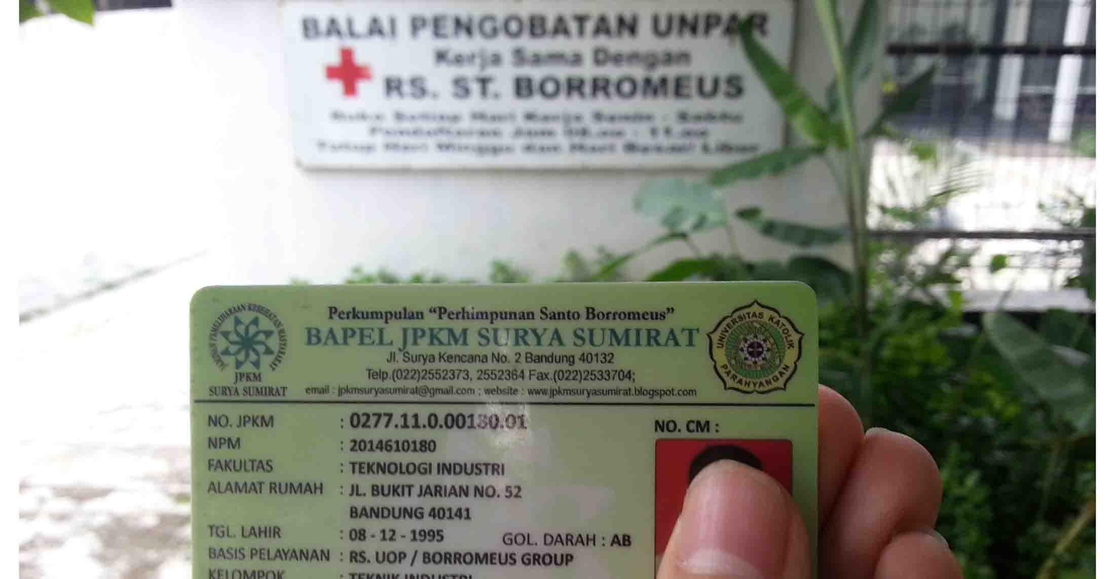 Kartu Kesehatan Balai Pelayanan (Bapel) Jaminan Pemeliharaan Kesehatan Masyarakat (JPKM), dok/MP