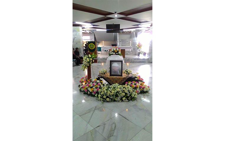 Suasana Misa Requiem Prof. Arief Sidharta, Rabu 26/11. /Dok. MP