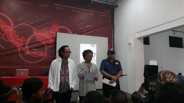 """Pembacaan deklarasi """"Pernyataan Bandung"""" yang diadakan di Gedung Indonesia Menggugat pada Selasa (17/4)/dok. Fiqih Rizkita"""