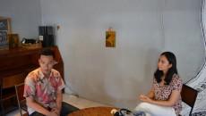 Satrio Wibowo (Teknik Sipil 2013) dan Jane Angelica (Hukum 2013) pasangan capresma dan cawapresma nomor urut 1 yang diwawancarai MP di Coop Space.