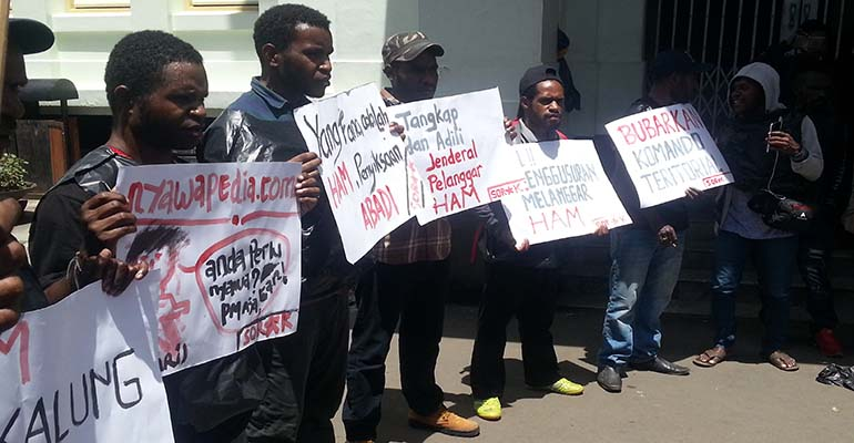 Sejumlah Tuntutan Aksi Peringatan HAM Sedunia oleh SORAK. Dok/MP