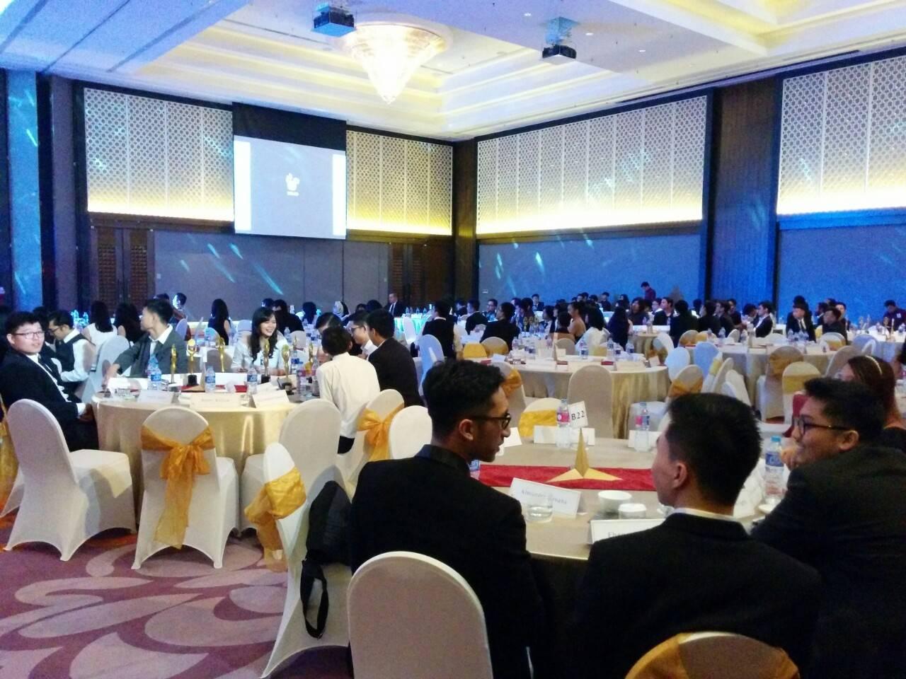 Suasana acara Malam Penghargaan UNPAR (MPU) yang diselenggarakan pada Sabtu (8/4) lalu di Hotel Mercure. Dok/ PM UNPAR