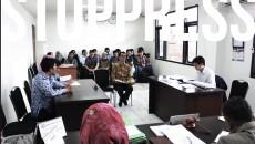 Suasana Sidang Penyelesaian Sengketa Informasi antara Vincent vs Pemerintah Kota Bandung. dok./Komisi Informasi Jawa Barat