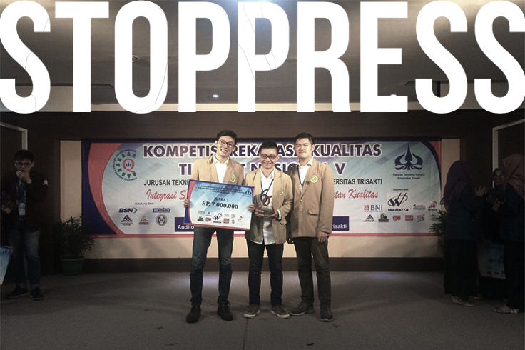 TIM Kompetisi Rekayasa Kualitas Tingkat Nasional V ketika disematkan sebagai juara 1 dok./TIMjuaraTI