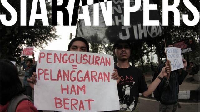 Beberapa orang Peserta Aksi dalam Aliansi Rakyat Anti Penggusuran. dok./AliansRakyatAntiPenggusuran