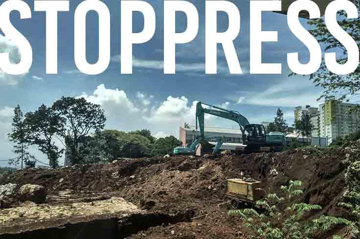 Keadaan Pembangunan Gedung PPAG Dalam Proses Galian Tanah