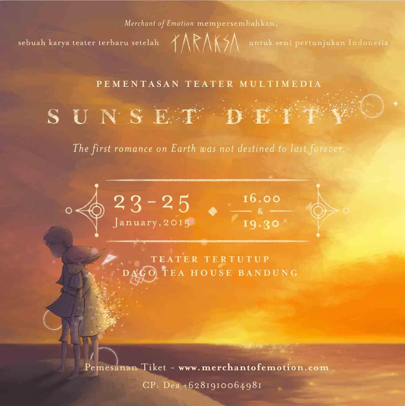 Press Release – Pementasan Teater Multimedia Sunset Deity