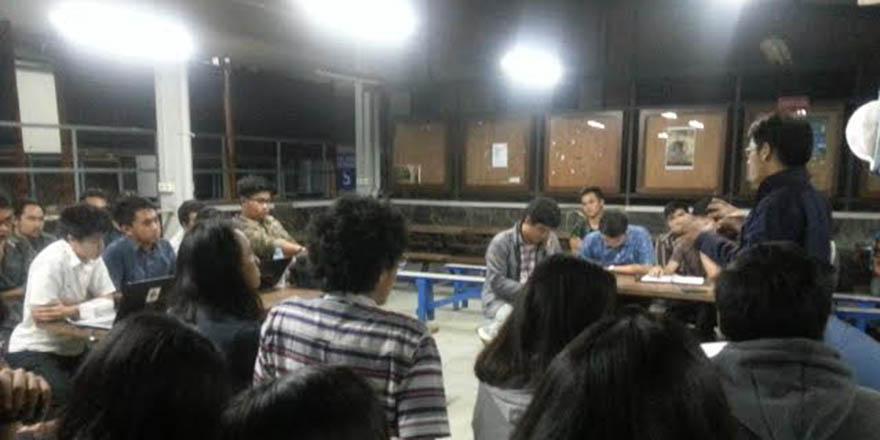 Sikapi Pembangunan GSG, Mahasiswa Adakan Diskusi Lintas Jurusan