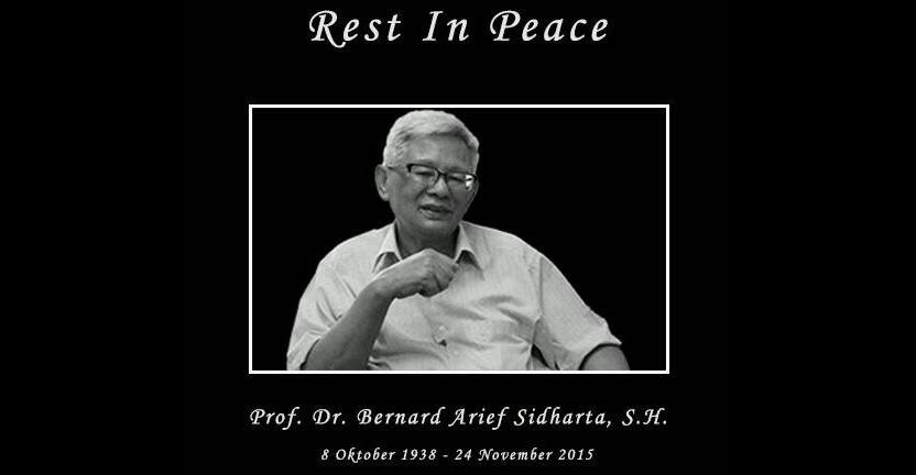 Guru Besar Fakultas Hukum Arief Sidharta Meninggal Dunia