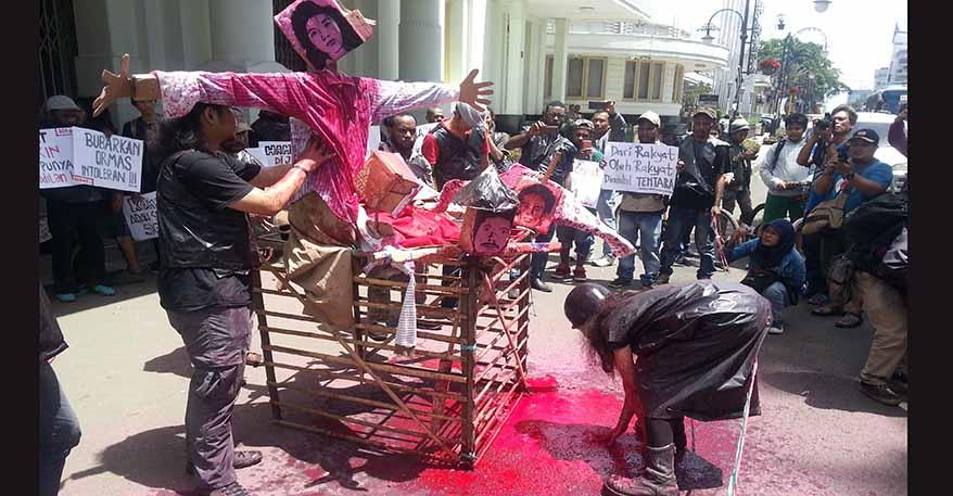 Aksi Peringatan HAM Sedunia, Serukan Referendum Papua dan Penegakkan HAM Indonesia