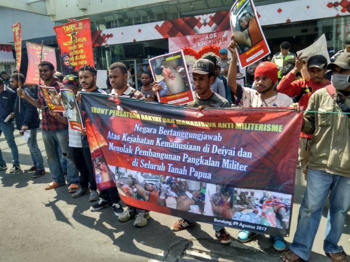 Front Persatuan Rakyat dan Mahasiswa Anti Militerisme Tuntut Usut Tuntas Kasus Pelanggaran HAM di Papua