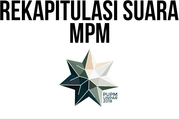 Rekapitulasi Penghitungan Suara PU-PM Unpar 2018 Untuk MPM