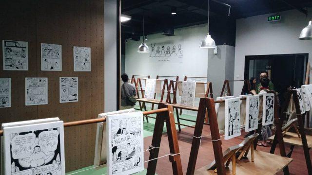 Suasana Pameran Komik 'Refleksi Sosial dalam Visual' di Bandung Creative Hub. dok/MP.