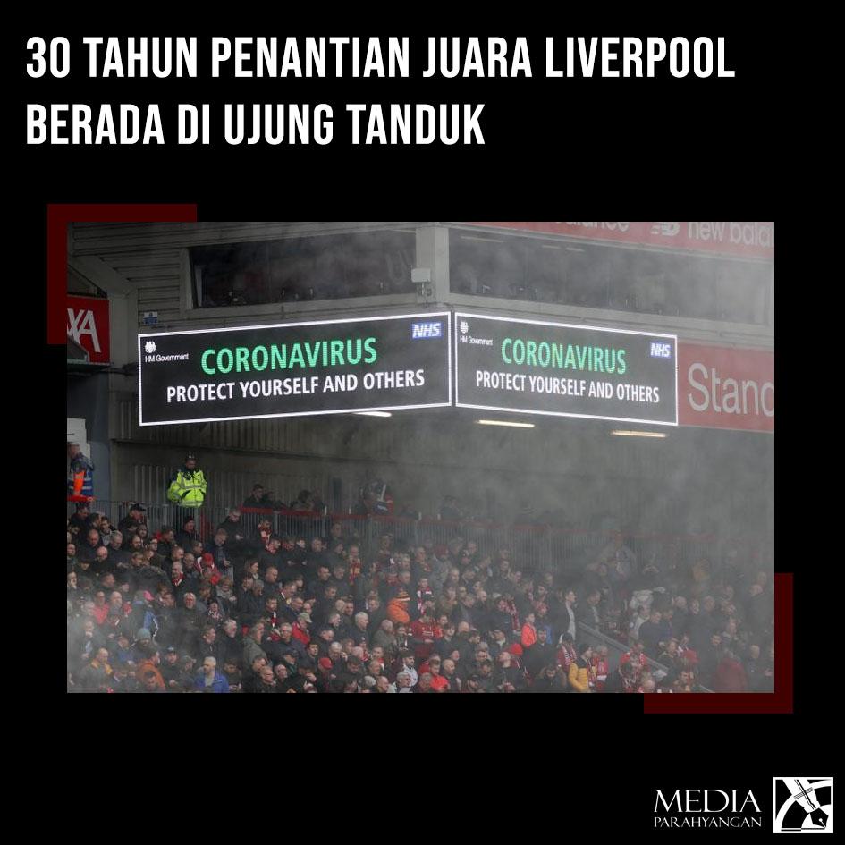 30 Tahun Penantian Juara Liverpool Berada di Ujung Tanduk