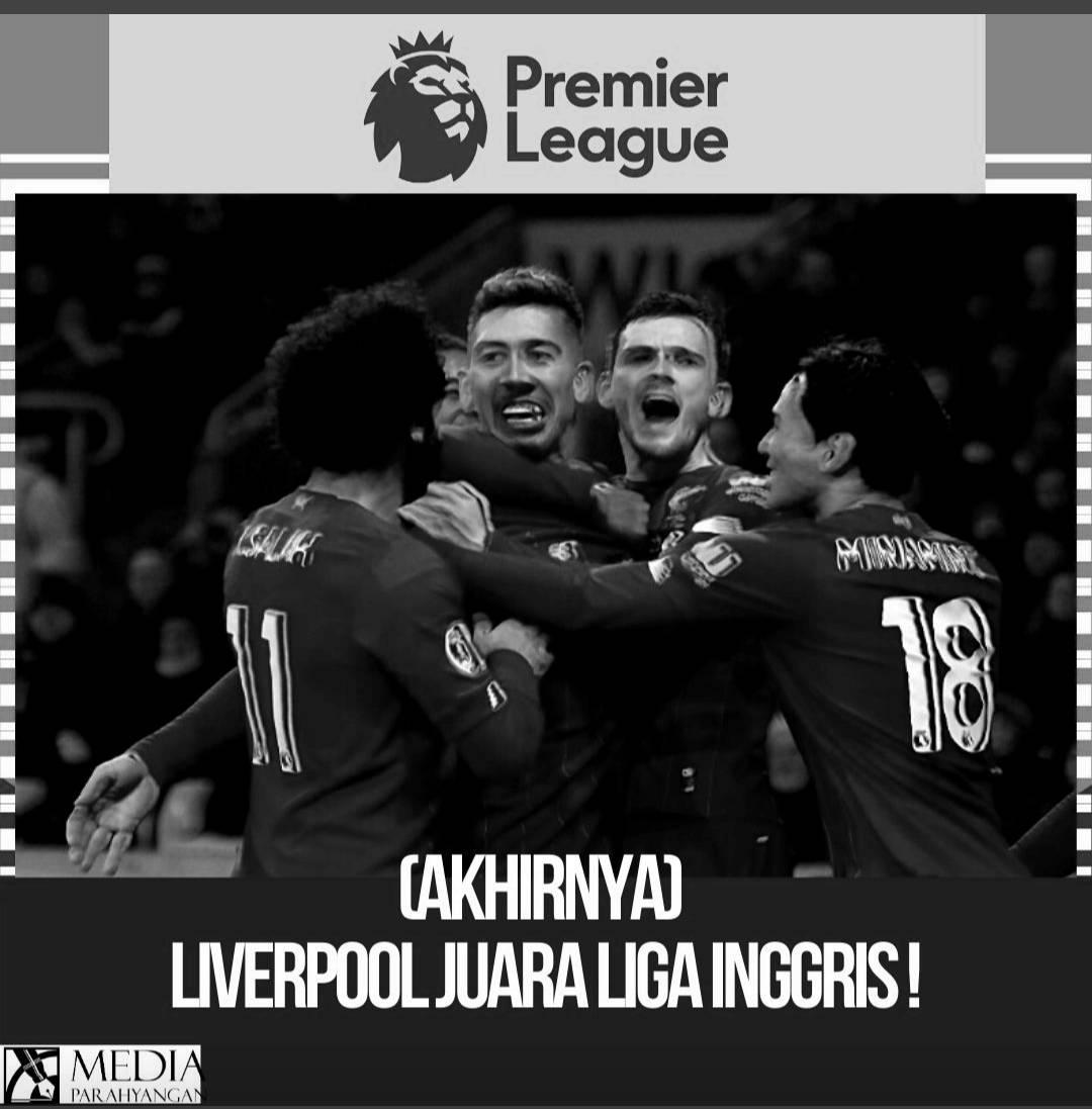 Liverpool Juara Liga Inggris Musim 2019-2020
