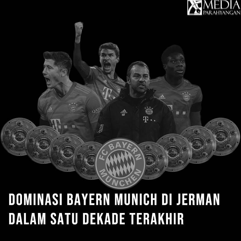 Dominasi Bayern Munich di Jerman dalam Satu Dekade Terakhir