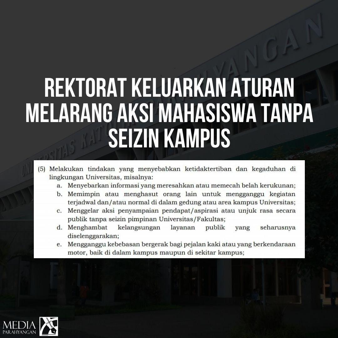Rektorat Keluarkan Aturan Melarang Aksi Mahasiswa Tanpa Izin Kampus