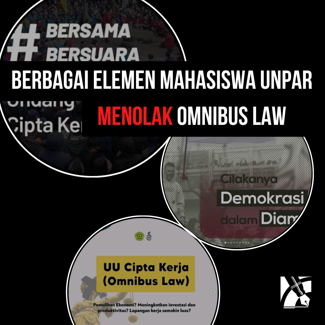 Berbagai Elemen Mahasiswa Unpar Menolak Omnibus Law